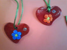 corazones plastinlina