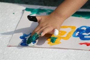 pintura dedos