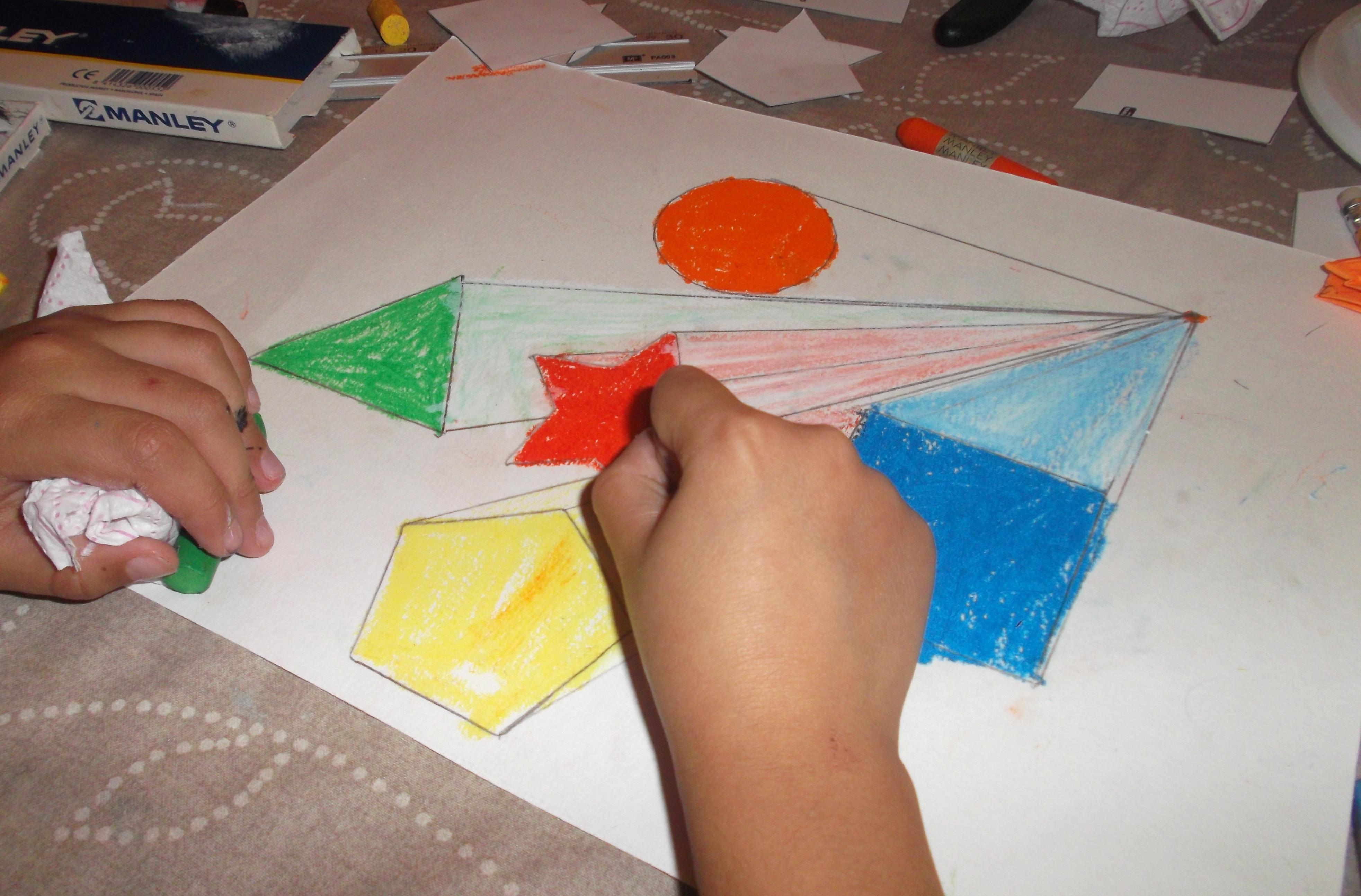 Libreta De Dibujo Con Dibujos Infant: Fugar Figuras Geométricas