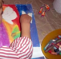Pintar con pasteles