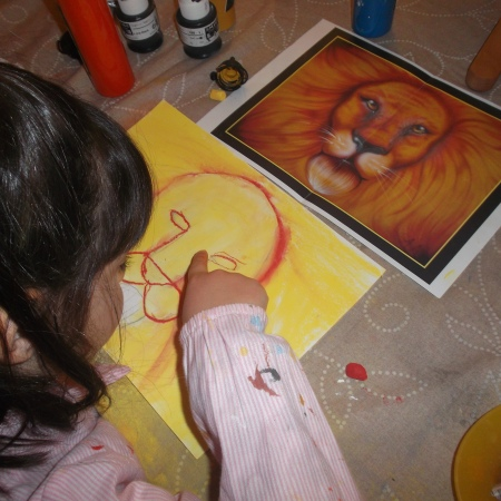dibujos pintados por niños