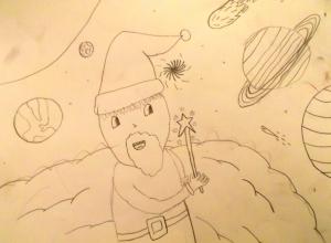 Papa Noel en el espacio