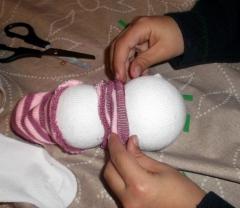 muñeco nieve calcetin 2