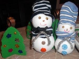 muñeco nieve calcetin 4