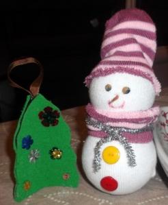 muñeco nieve calcetin 5