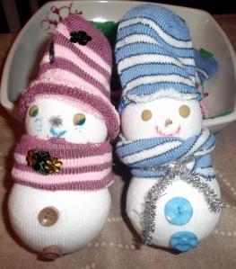 muñeco nieve calcetin 6