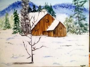 paisaje nevado 1