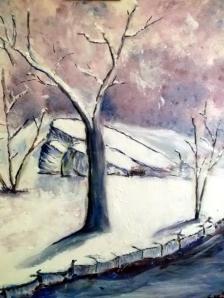 Cuadros de invierno en acrilico