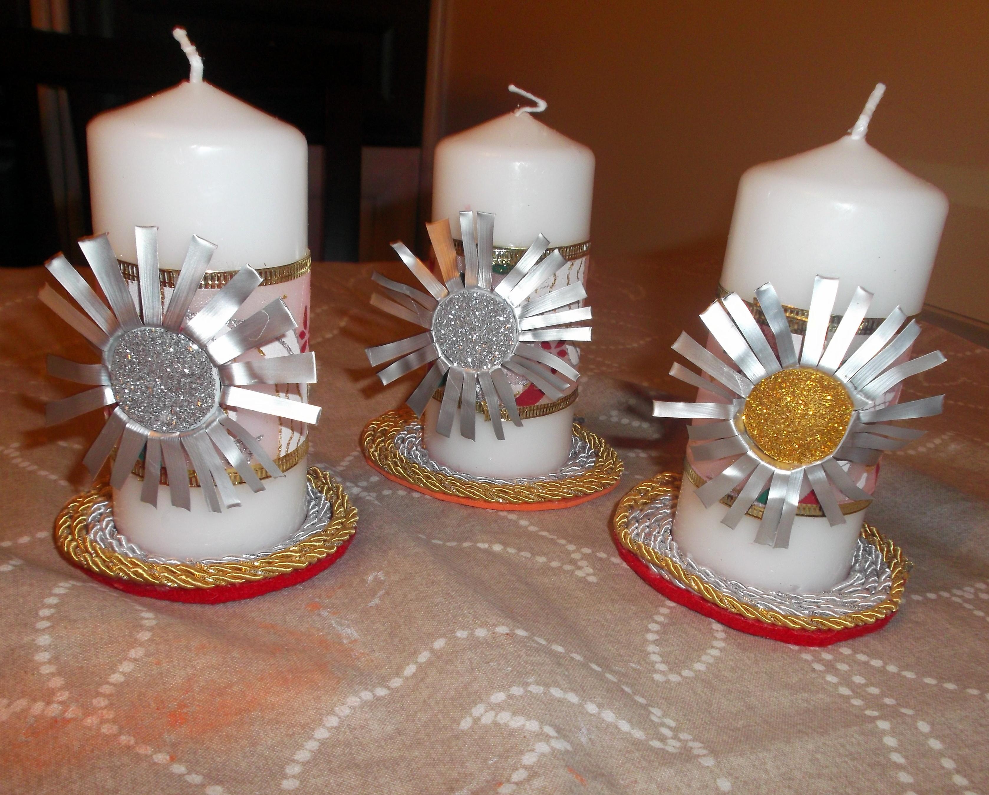 Bola de navidad con botes de conservas y velas decoradas - Que hacer con capsulas nespresso ...