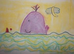 dibujo infantil con pastel