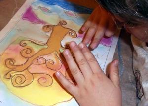 arbol pintado con pasteles