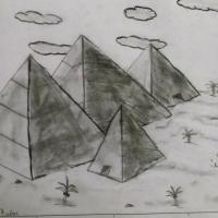 Pirámides a carboncillo