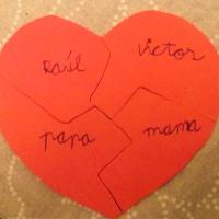 Puzzle iman de corazon para el dia de los enamorados