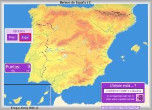 MAPA INTERACTIVO RELIEVES DE ESPAÑA