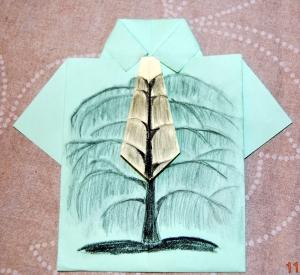 camisa pintada dia del padre arbol carboncillo