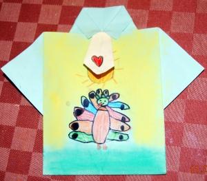 camisa pintada dia del padre pavo real