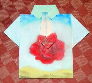 camisa pintada dia del padre rosa dalí