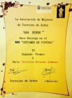 PREMIO IIV CERTAMEN DE PINTURA DE LA ASOCIACIÓN ADA BYRON