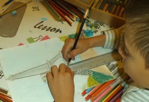 dibujo torre eiffel por niño 2