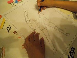 dibujo de guerrero por niño 1