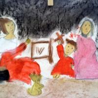 TALLER ARTE INFANTIL EN LA PARROQUIA. LA SAGRADA FAMILIA DEL PAJARITO