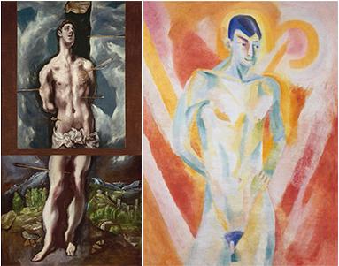 El Greco y la pintura moderna. San Sebastian ( El Greco) y El Gitano  (Robert Delaunay)