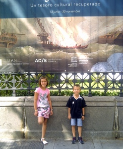 la fragata Mercedes en el museo Arqueologico de Madrid