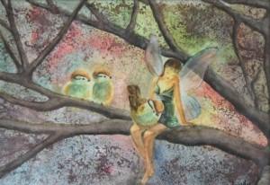 Ilustración de Cristina Estevas - Acuarela.