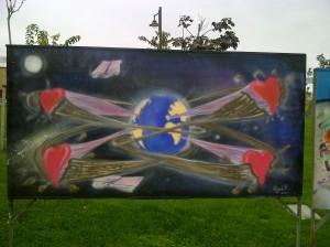25 aniversario muro de berlin en Parque de Europa Torrejon de ardoz