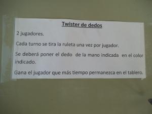 Manualidad Twister de dedos 1
