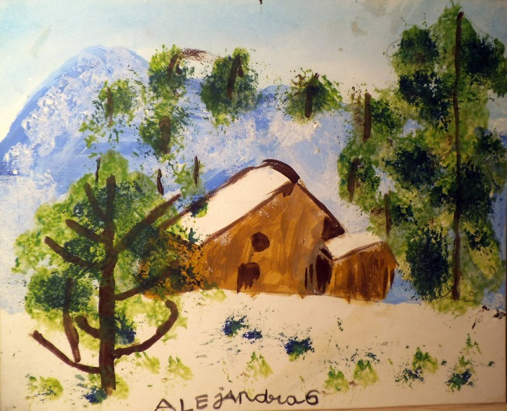 PAISAJE NEVADO - ALEJANDRA, 6 AÑOS