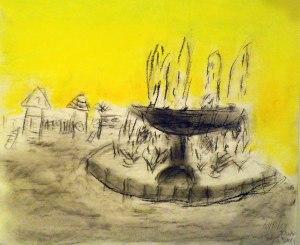 dibujo al aire libre con pasteles por niños8