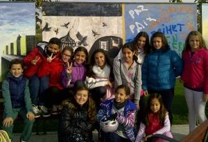 Dibujos de los niños 25 aniversario muro de berlin en Parque de Europa Torrejon de ardoz 1