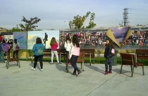 Dibujos de los niños 25 aniversario muro de berlin en Parque de Europa Torrejon de ardoz 20