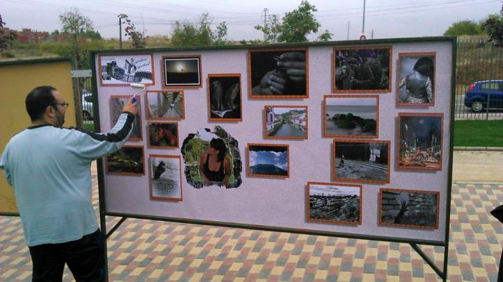 Fotografia  en el 25 aniversario muro de berlin en Parque de Europa Torrejon de ardoz