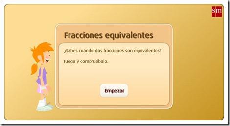 juego interactivo fracciones equivalentes quinto primaria