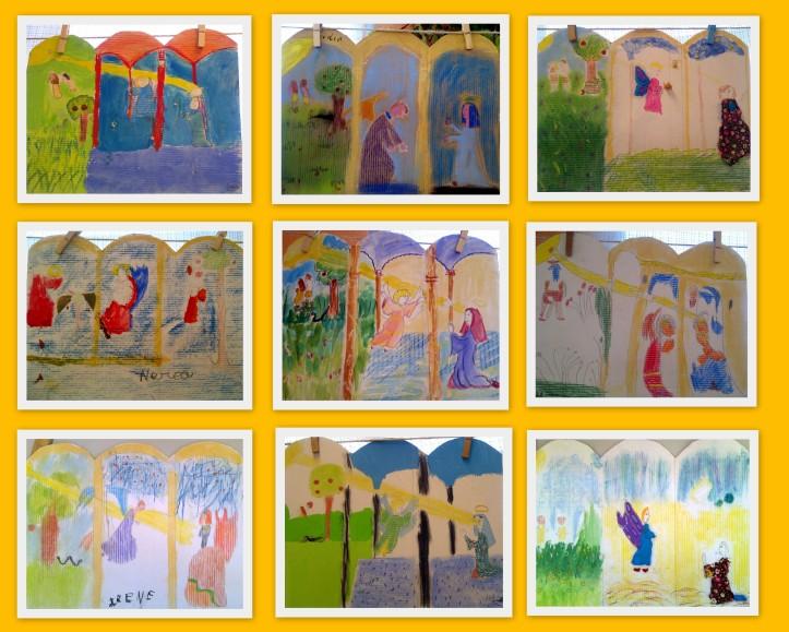 La anunciacion de Fra Angelico para niños