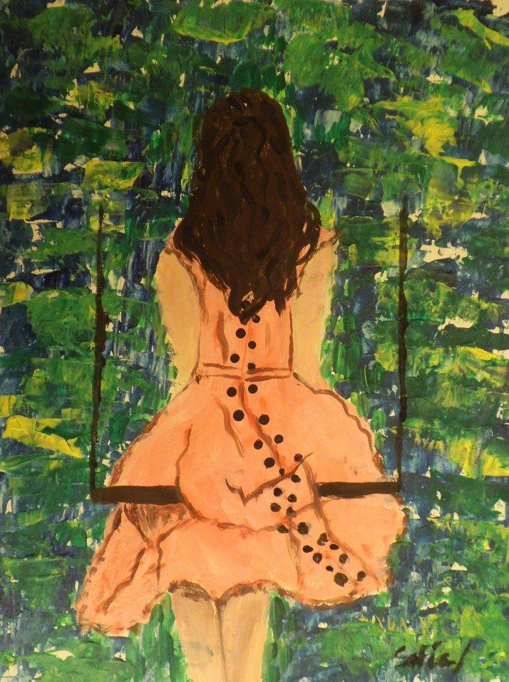 Alumnos de pintura infantil de Cristina Estevas