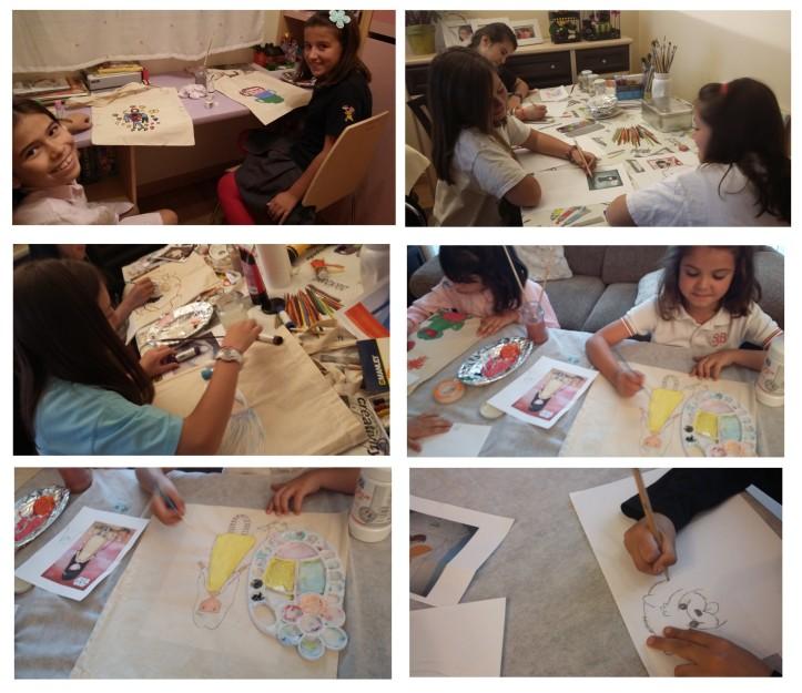 alumnos de cristina estevas de pintura para niños