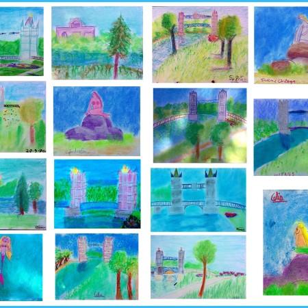 Taller de arte infantil en el parque de europa torrejon de ardoz