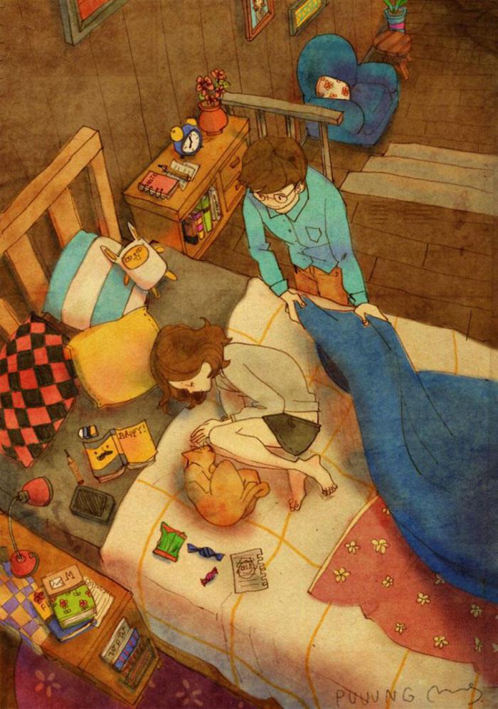 """Ilustracion """"El amor es..."""""""