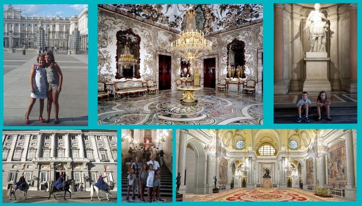 El palacio Real de Madrid con niños