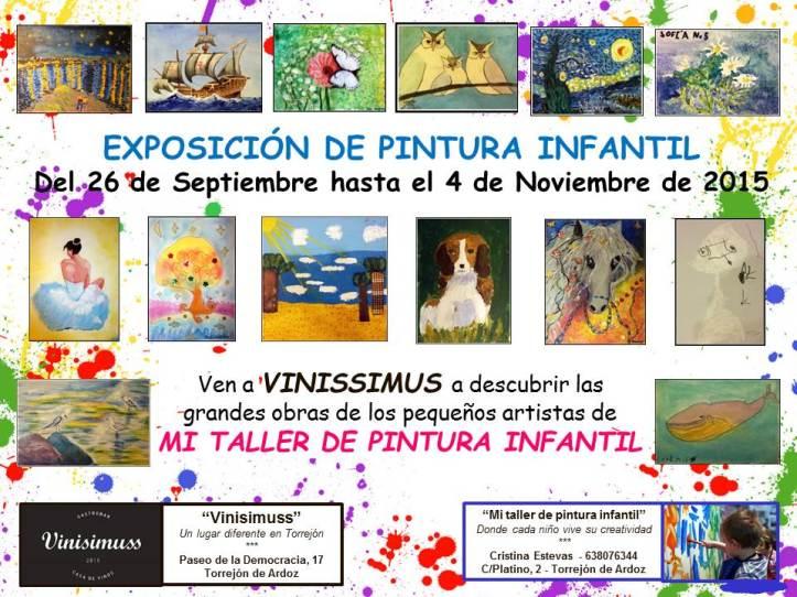 EXPOSICION DE PINTURA INFANTIL ALUMNOS CRISTINA ESTEVAS