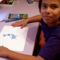 Sofía Soler, 11 años - VÍDEO PARA DIBUJAR PASO A PASO UN DELFÍN DE FORMA MUY FÁCIL