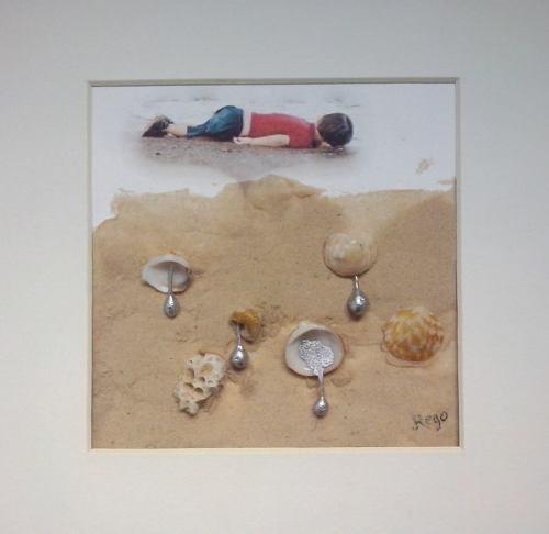 Lagrimas por Aylan fotografia escultura de javier rego