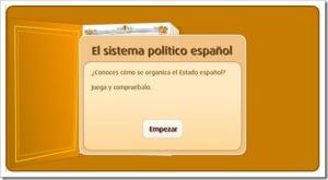 recursos interactivos organización politica y territorial de españa 6º primaria 1