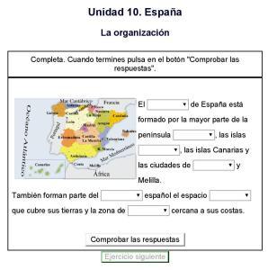 recursos interactivos organización politica y territorial de españa 6º primaria 3