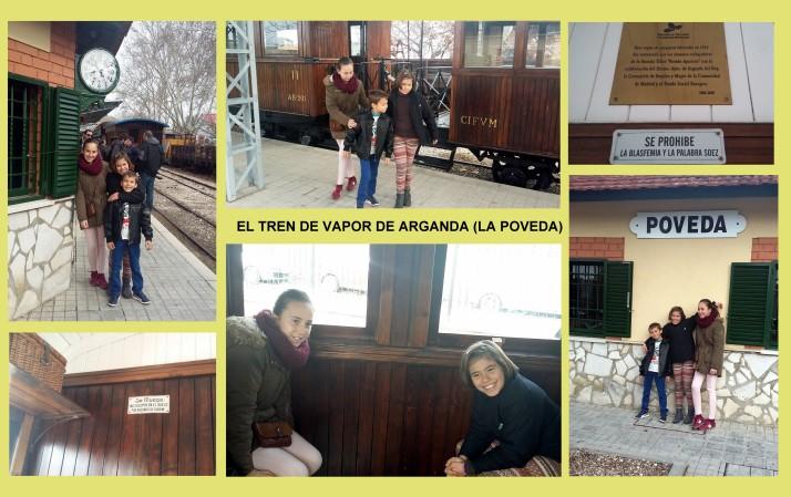 el tren de vapor de arganda planes con niños Madrid 1