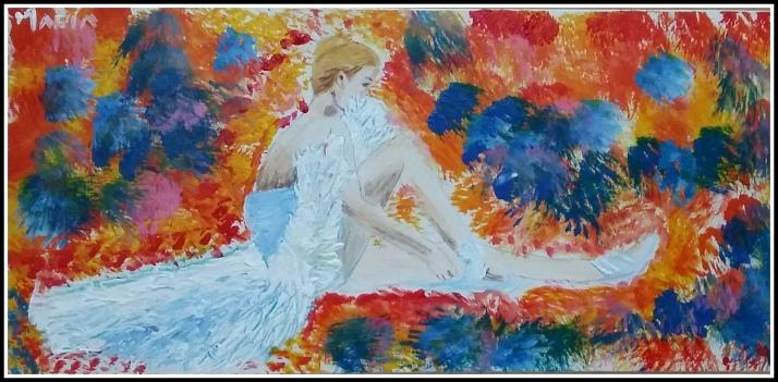 cuadro de bailarina leonid asimov oleo acrilico