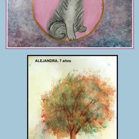 dibujos de animales y plantas en acuarela y carboncillo para nios